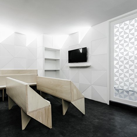 Attirant Tile Motif Creates Patterned Interior For Porto Dental Clinic By Ren Pepe  Arquitetos