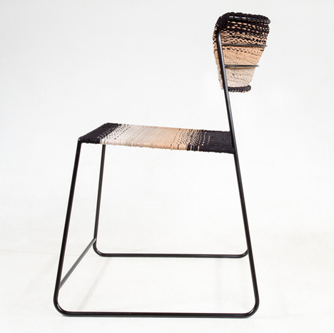 Anna Herrmann's 50 Den chair is made from old tights