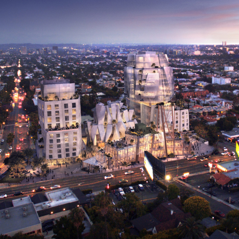 Gehry unveils design for mixed-use development on LA's Sunset Strip