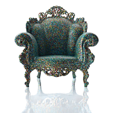 Alessandro Mendini's Proust armchair produced by Magis in plastic