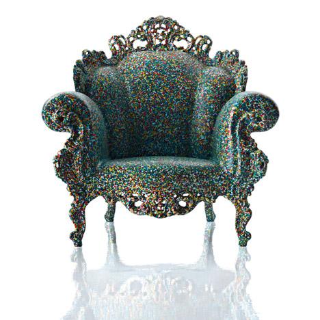 Magis creates Alessandro Mendini's Proust armchair in plastic