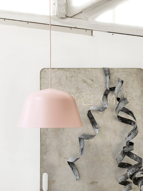 Ambit spun aluminium lamp by TAF Architects for Muuto