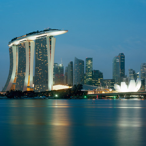Architecture in Singapore from the Dezeen archive including Marina Bay Sands
