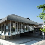 Top-heavy ballet school by Y+M Design Office features an oversized roof