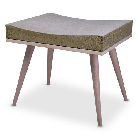 Henry&Co's Chayr features a seat made from hay and grass