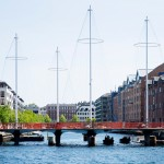 Copenhagen bridge by Olafur Eliasson is designed to resemble ship masts