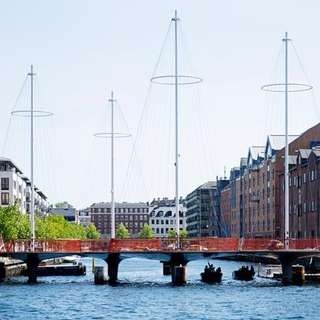 Copenhagen bridge by Olafur Eliasson is designed to resemble ship masts