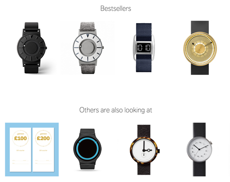 Dezeen Watch Store relaunches website