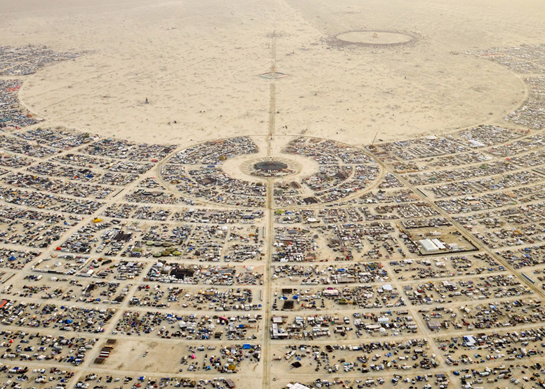 "Burning Man ""needed urban design because it's a city"" says founder Larry Harvey"