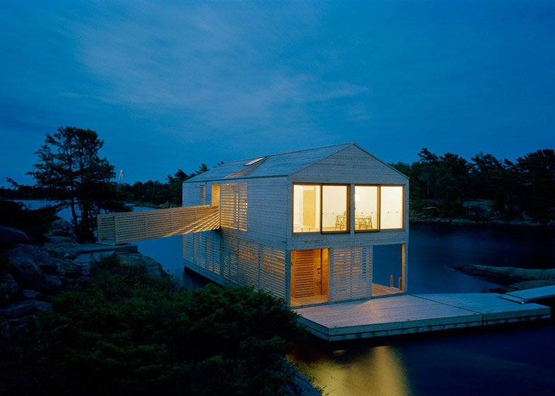 Floating House Bobs On The Surface Of Canada S Lake Huron