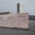 Bureau A installs pink marble urinal at Zurich car park