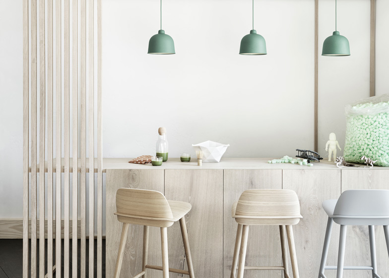 jens fager s bamboo grain lamp joins muuto lighting collection
