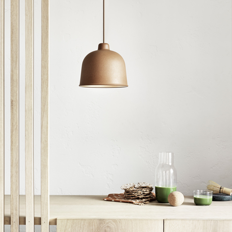 Muuto adds Jens Fager's bamboo Grain pendant to lighting collection