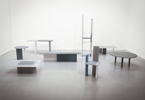 Wonmin Park grey navy and white resin Haze furniture
