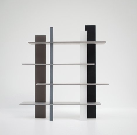 Wonmin Park adds resin table and bookcase to Haze furniture series