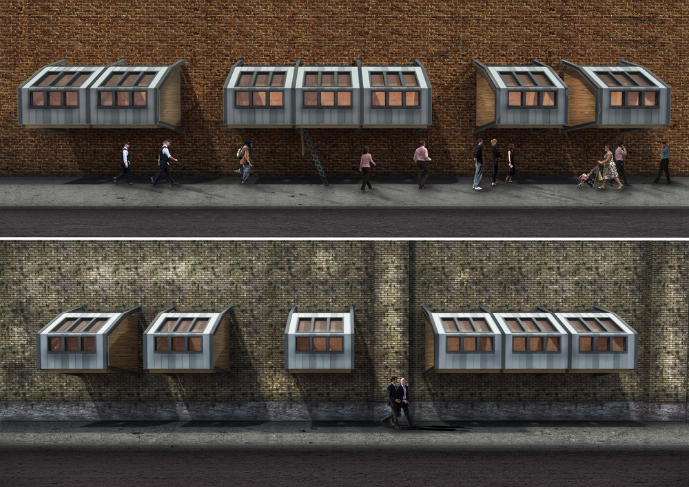 Homeless Shelters Metal : James furzer to crowdfund sleeping pods for london homeless