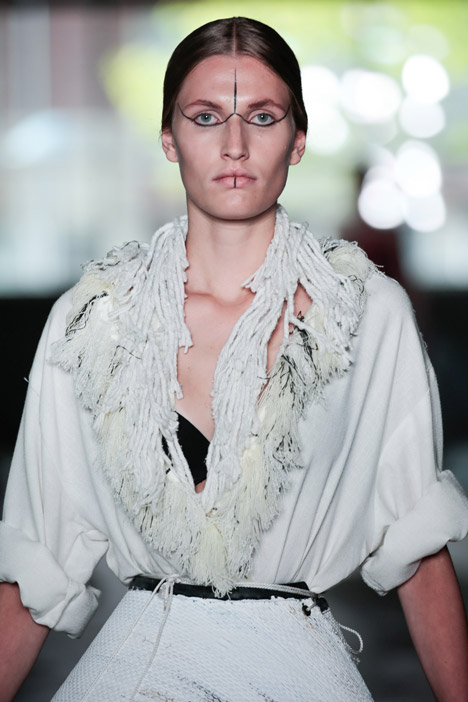 She Knows Why the Caged Bird Sings fashion collection by Karim Adduchi