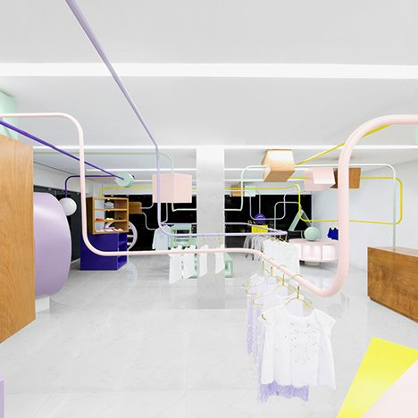 Anagrama creates oversized bead maze for Kindo children's boutique