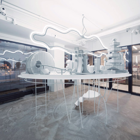 Bureau A builds a model Soviet city inside L'asticot boutique