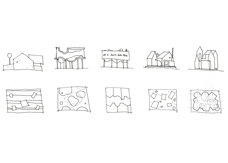 5 Normal Houses by Bureau Spectacular LA A+D museum exhibition about shelter