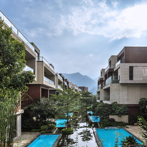 NEXT Architects uses terracotta and granite for housing complex on China's Min River