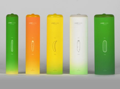 Condom Packaging Based On Different Vegetable Girths To Help