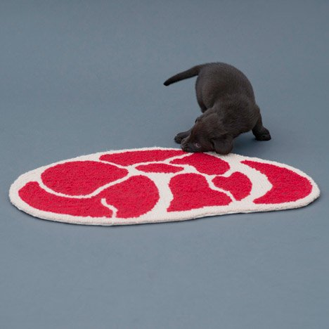 Ma Yansong designs meat-patterned rugs for dogs
