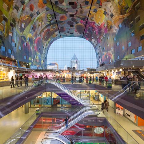 "MVRDV's Markthal in Rotterdam ""monumentalises food"" says Winy Maas"