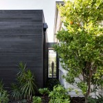 Melbourne Garden Room is a blackened wood extension to a century-old Edwardian house