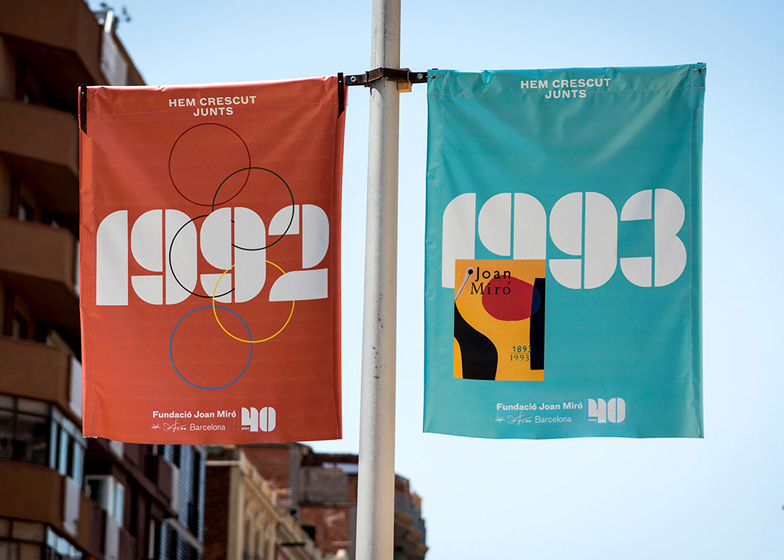 Miró Foundation 40th anniversary banners designed by Mucho