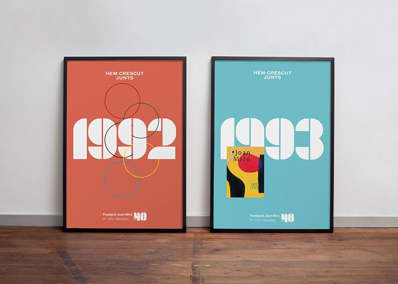 Miró Foundation 40th anniversary posters designed by Mucho