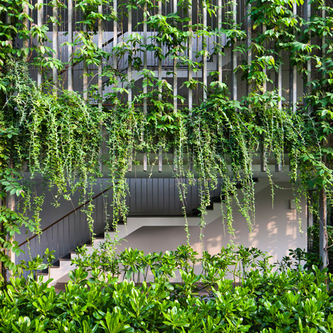 Vo Trong Nghia's Babylon hotel building features hanging gardens on its facades