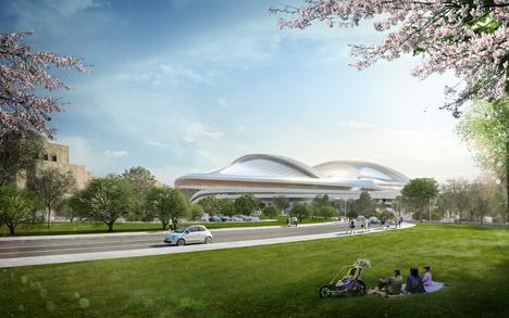 New National Stadium Tokyo by Zaha Hadid