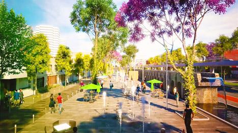 Linear park in Mexico City by Fernando Romero