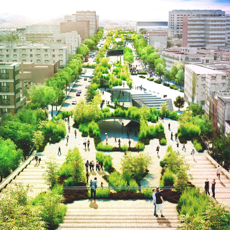 Linear park in Mexico City by Fernando Romero