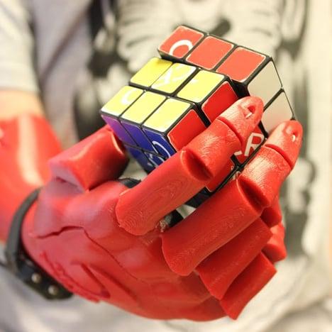3D-printed robotic hand wins 2015 UK James Dyson Award