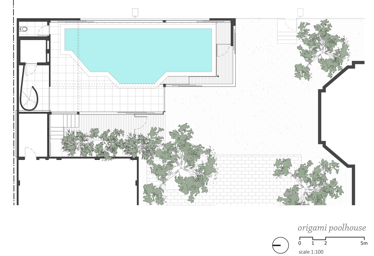 Great Site plan u click for larger image Origami Poolhouse by Made Group Floor