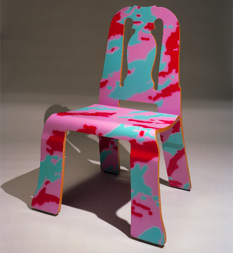 Queen Anne Chair in a Paola Navone pattern & Postmodernism: Queen Anne Chair by Venturi and Scott Brown