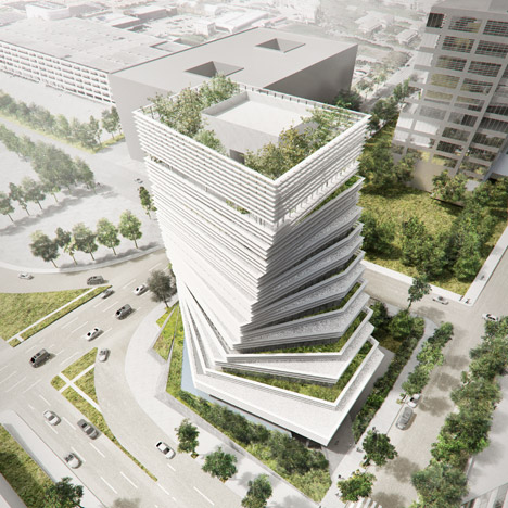 Kengo Kuma Unveils Twisted Tower For Rolex In Dallas Texas