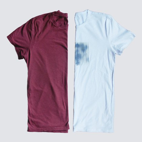 SOAK spray-on textile coating demonstrated on T-shirts