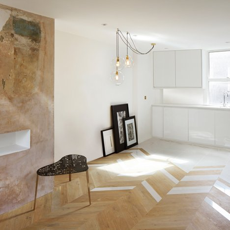 London homes by Design Haus Liberty combine exposed plaster with off-the-shelf materials