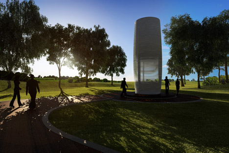 Smog Free Project Live by Studio Roosegaarde