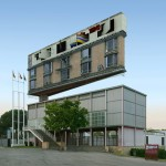 Victor Enrich manipulates photography to relocate Storefront gallery above an old Expo pavilion