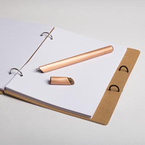 Orée launches copper Stylograph ballpoint that digitally records handwitten notes