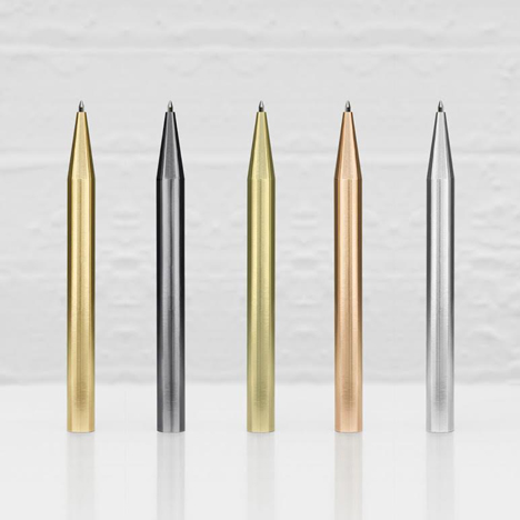Minimalux creates ballpoint pens from precious metals