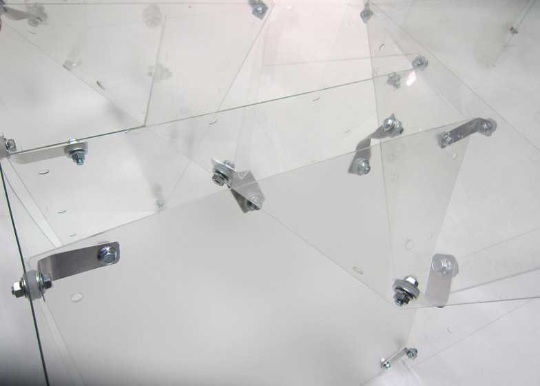 Transparent Structures panelled glass installation