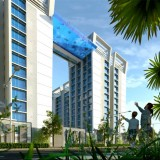 Transparent swimming pool to bridge Indian tower blocks 12 storeys up