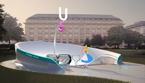 U5 subway competition in Vienna by Madame Mohr