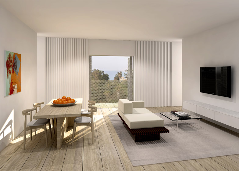 Interior being renovated for the new W Hotel \u2013 photograph by Eldad Rafaeli & John Pawson\u0027s vision for Tel Aviv\u0027s W Hotel