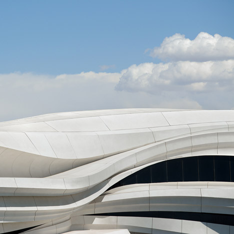 Undulating facade of Yinchuan art museum references the gradual shift of a Chinese river
